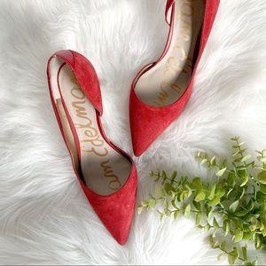 Sam Edelman Orella pump red suede heels